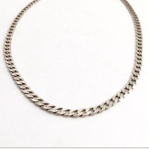 """Sterling Silver Cuban Curb Link Chain Necklace 24"""""""